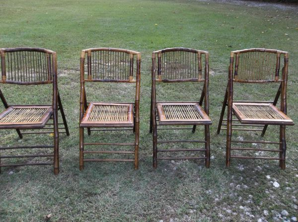 4--BAMBOO CHAIRS..great for my balcony $75   Bamboo chair ...