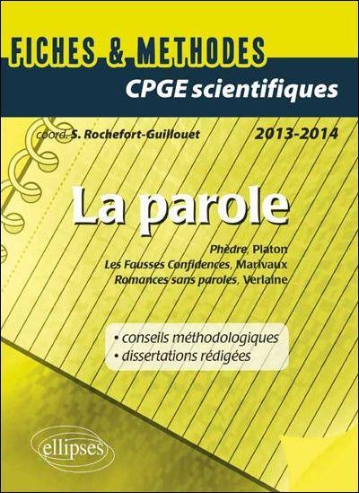 Ebooks Gratuits En Ligne: La Parole Fiches and Méthodes CPGE Scientifiques 2...