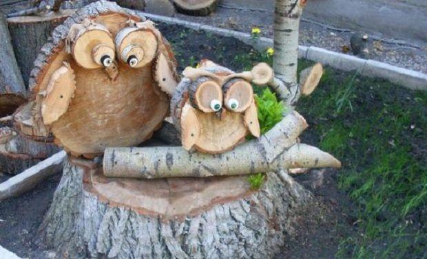 Mit Diesen Unterschiedlichen Dekorationsideen Aus Holz Machen Sie Ihr Haus Und Ihren Garten Viel Stimmungsvoller Di Wood Log Crafts Wood Slice Crafts Crafts