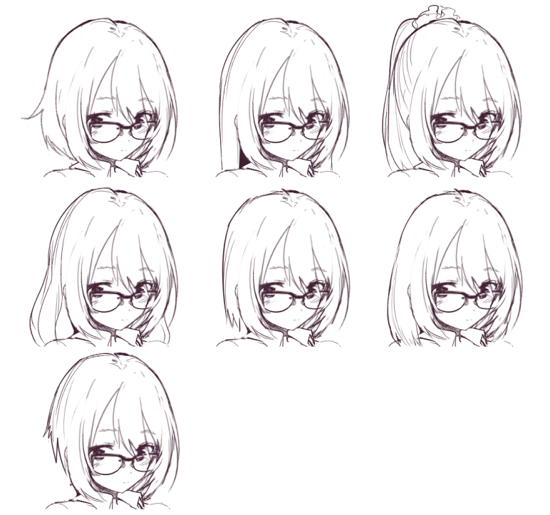 Hair Shapes Art Tutorials Study Pinterest Draw Anime Hair