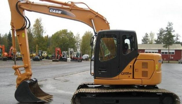 case cx135sr crawler excavator service repair manual set