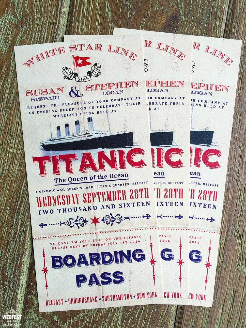 titanic wedding invitations http://www.wedfest.co/titanic-wedding ...