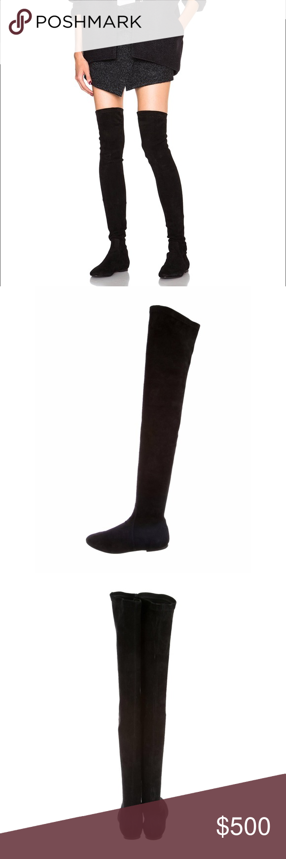 faa108ea115 ÉTOILE ISABEL MARANT BRENNA OVER-THE-KNEE BOOTS Black suede Étoile Isabel  Marant round