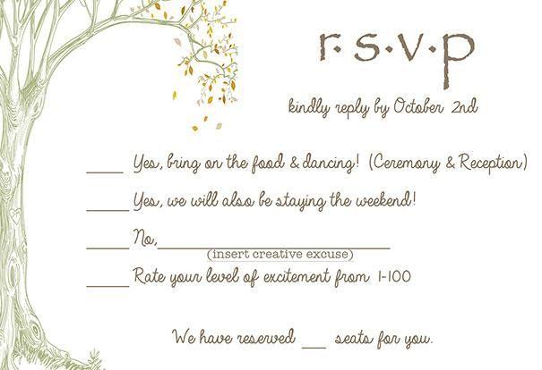 Funny Wedding Rsvp Cards Creative