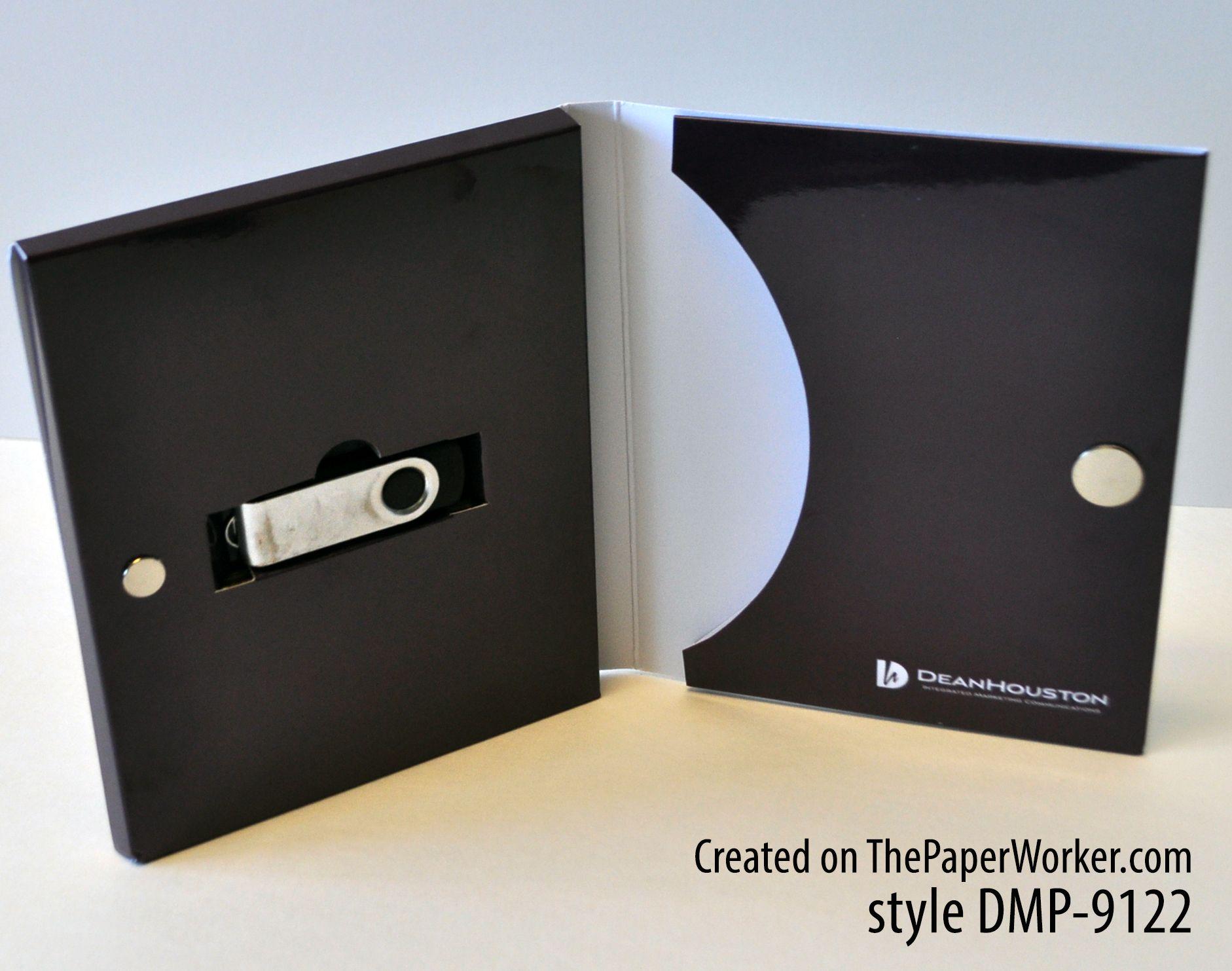 custom flash drive packaging designed on thepaperworker