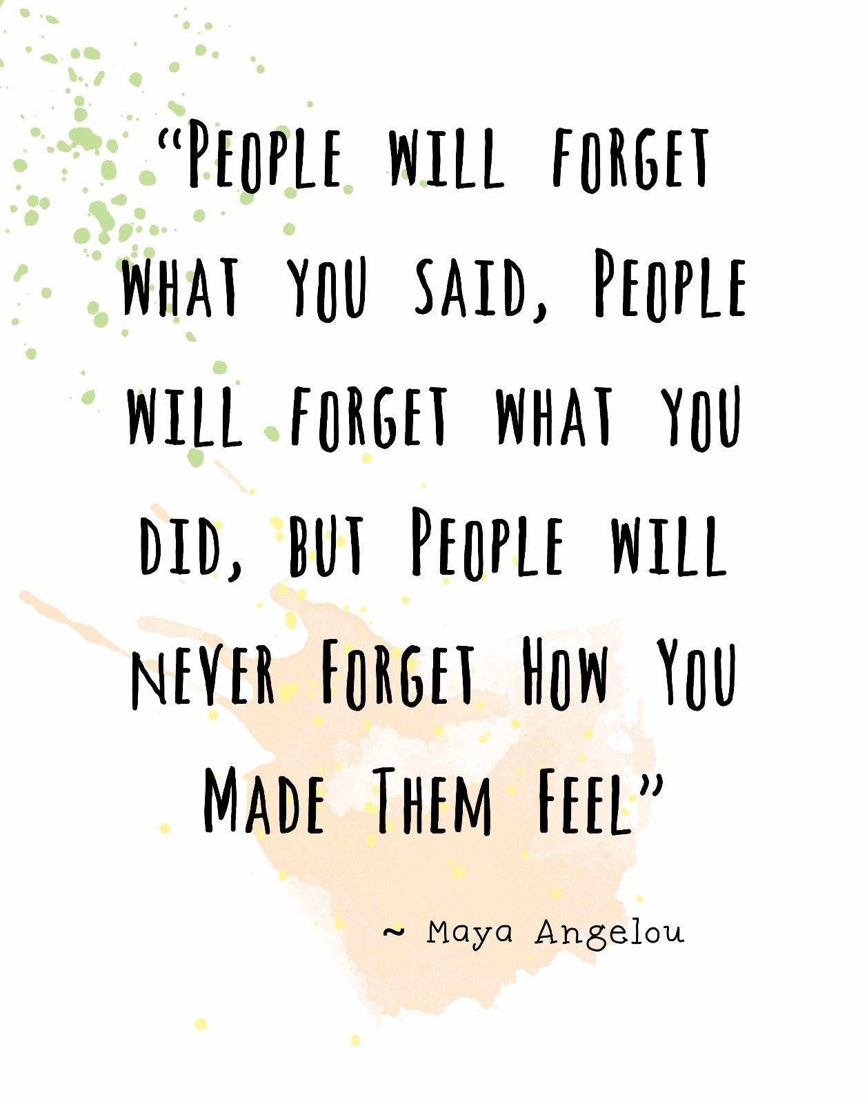 Details About Maya Angelou Quote Decorative Wall Art Print