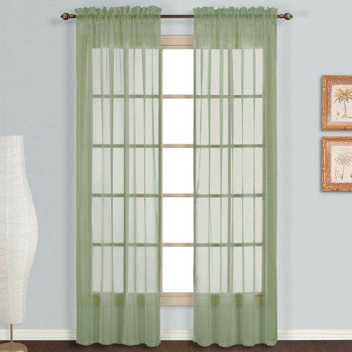 United Curtain Monte Carlo Sheer Window Curtain Panel 118 By 120