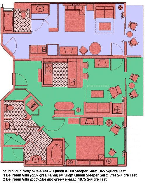 Saratoga Springs Villa floor plan