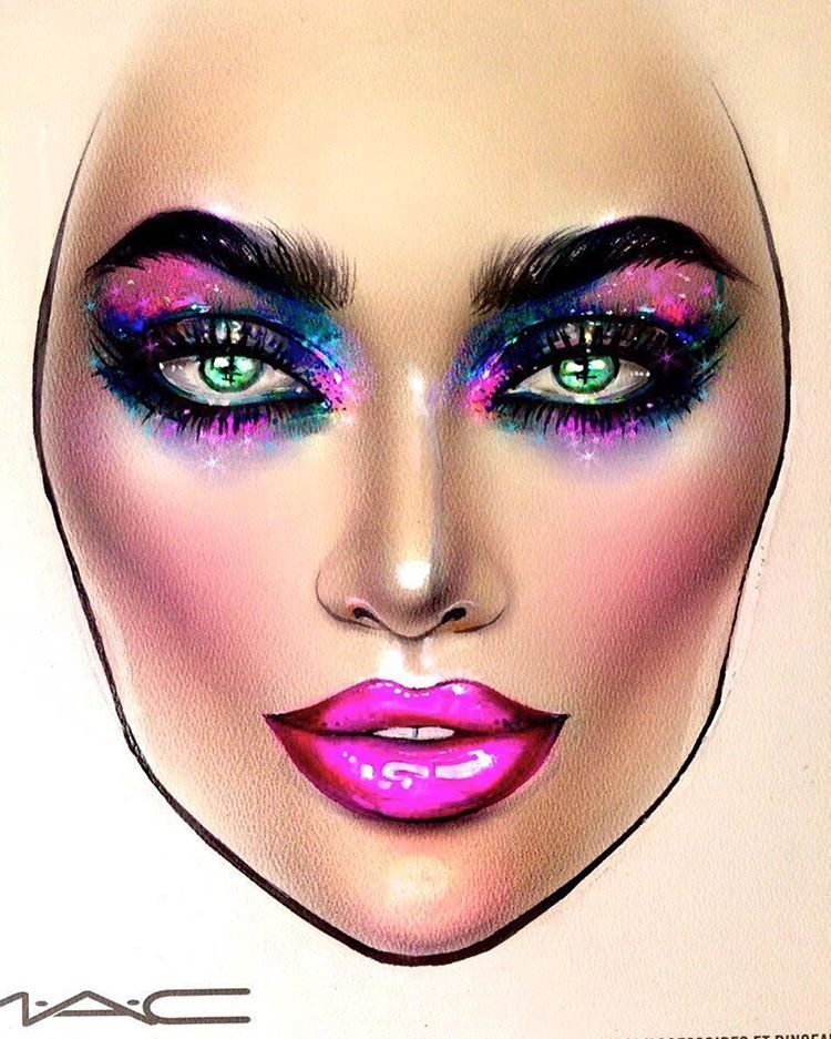 See this Instagram photo by milk1422 Makeup face charts