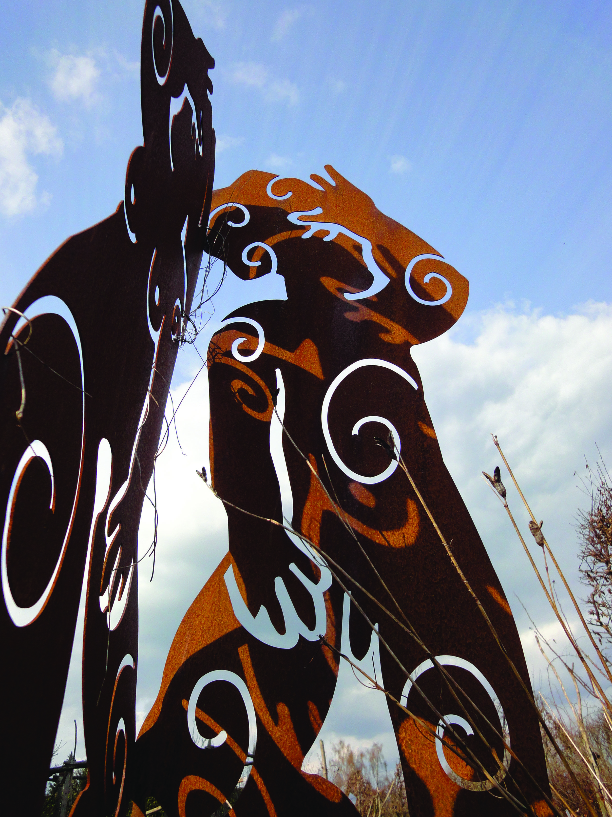 Fancy Kunst und Skulpturen aus Stahl eine faszinierende Gestaltungsm glichkeit f r den Garten