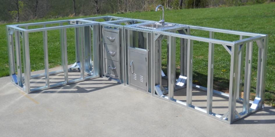 Amazing Stainless Steel Door For Outdoor Kitchen Design Idea