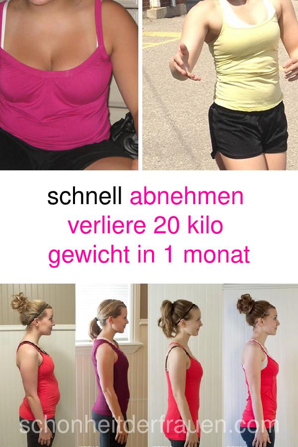 wie kann ich schnellstmöglich 20 kilo abnehmen