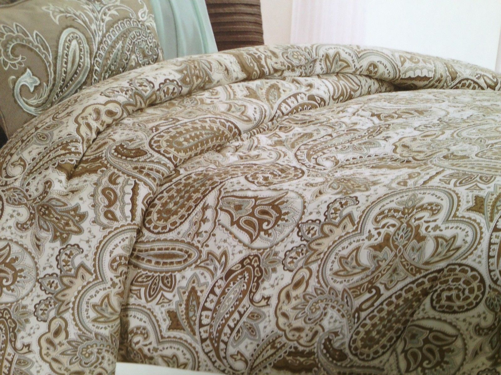 Blue and Brown Paisley Bedding | Bella Lux Paisley Blue ...