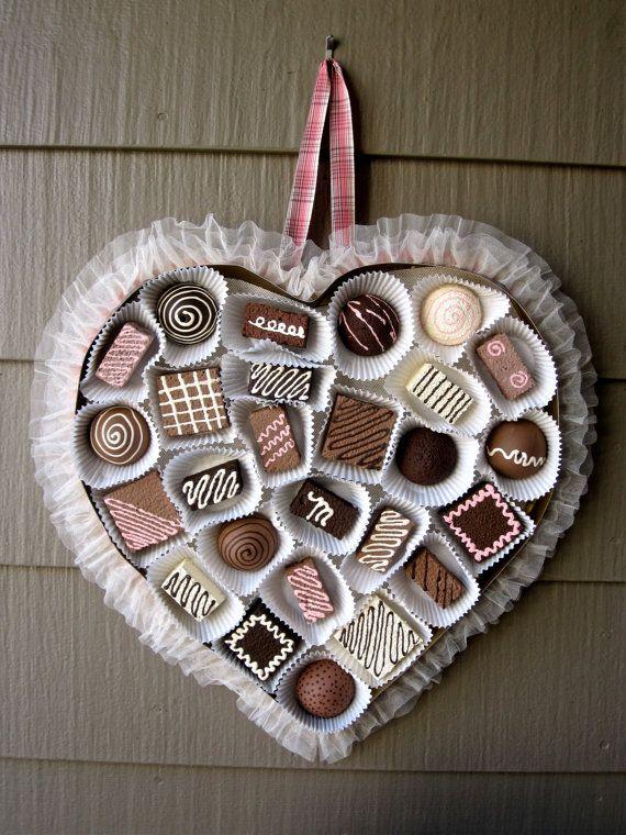 Chocolate Valentine Heart, Front Door Decor | Front door ...