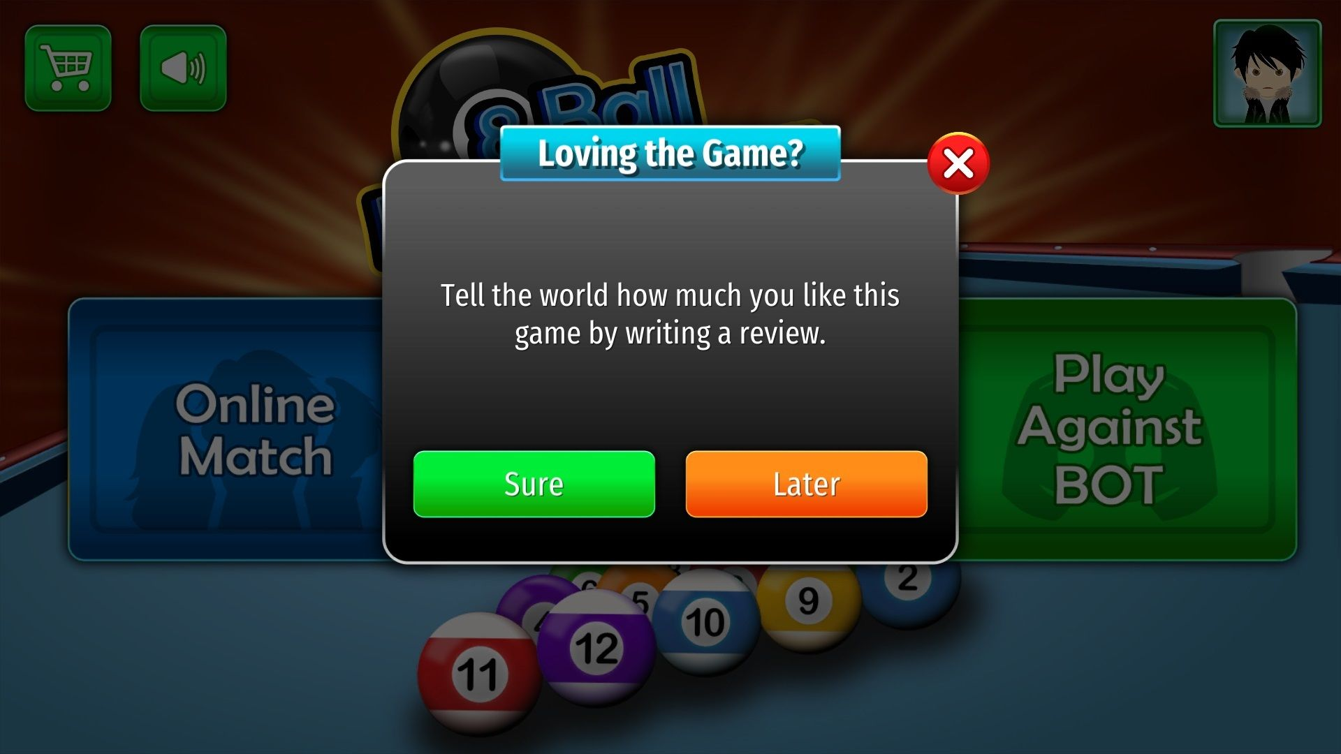 Rating Popup For 8 Ball Pool Play Online Unity Games Unity