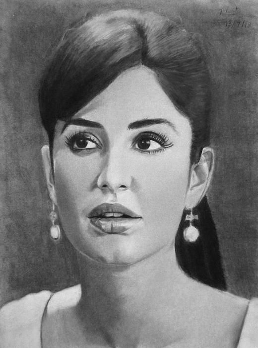 Katrina kaif caricatures sketches
