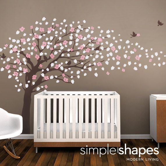 Tree Wall Decals Cherry Blossom Tree Decal Elegant Style