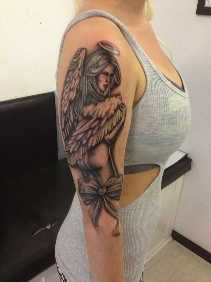 Angel Tattoos For Women Ideas And Designs For Girls Angel Tattoo For Women Angel Tattoo Arm Angel Tattoo Designs