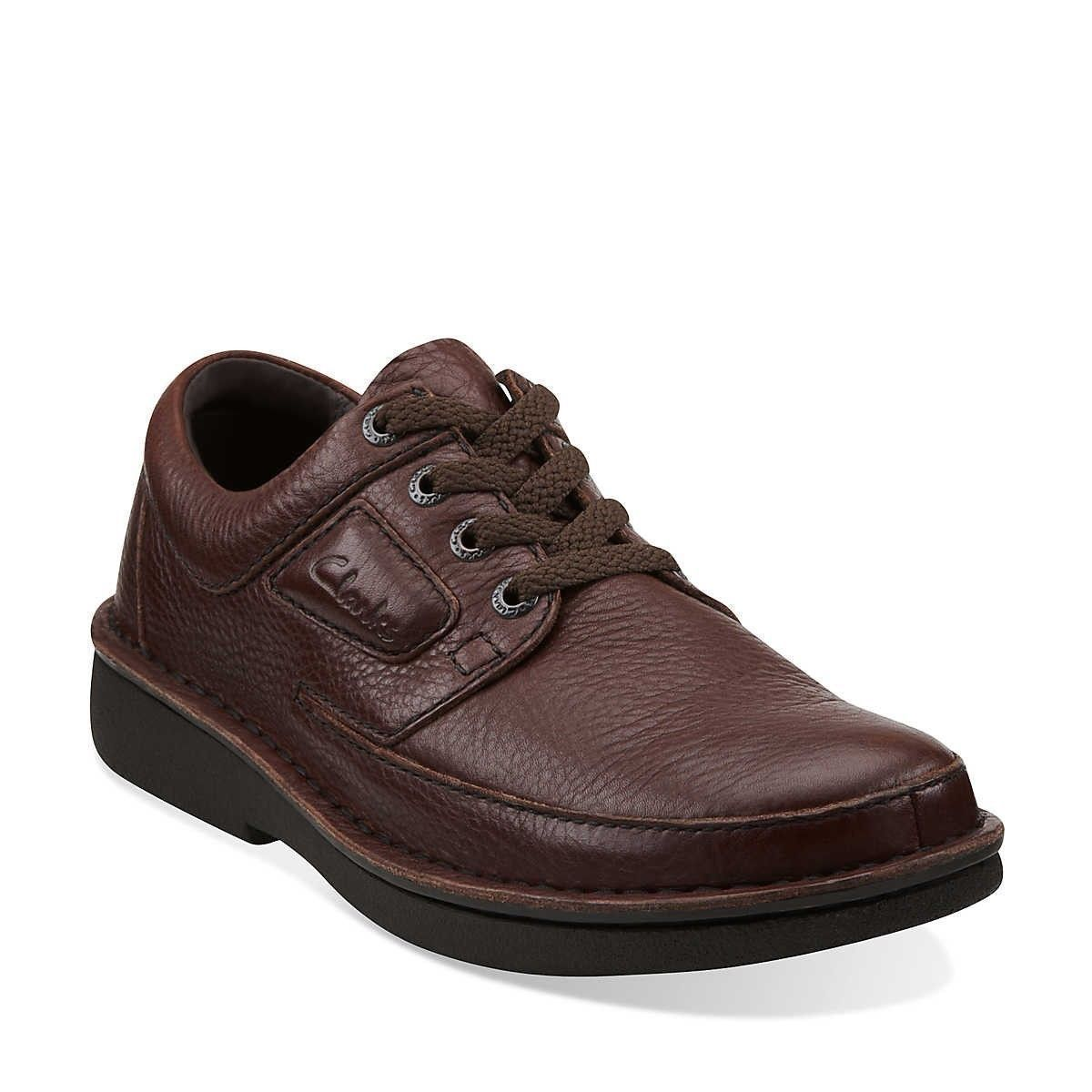 New Clarks Natureveldt Brown Leather Natural Oxfords Mens Shoes 260 62083
