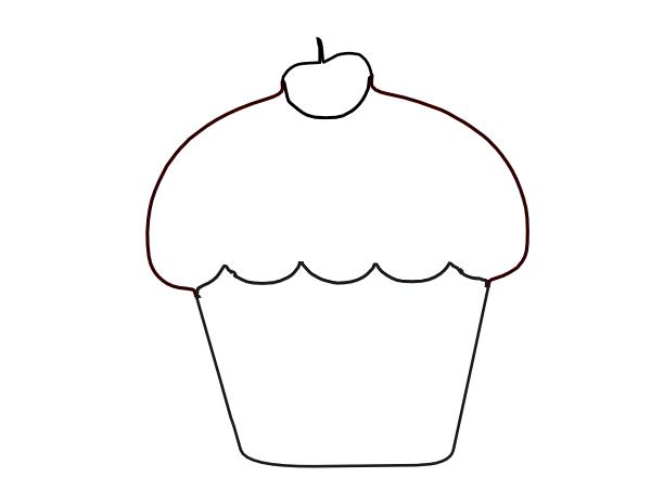Cupcake Black And White Birthday Cupcakes Clipart Black And White Clipart Black And White Clip Art Birthday Cupcakes