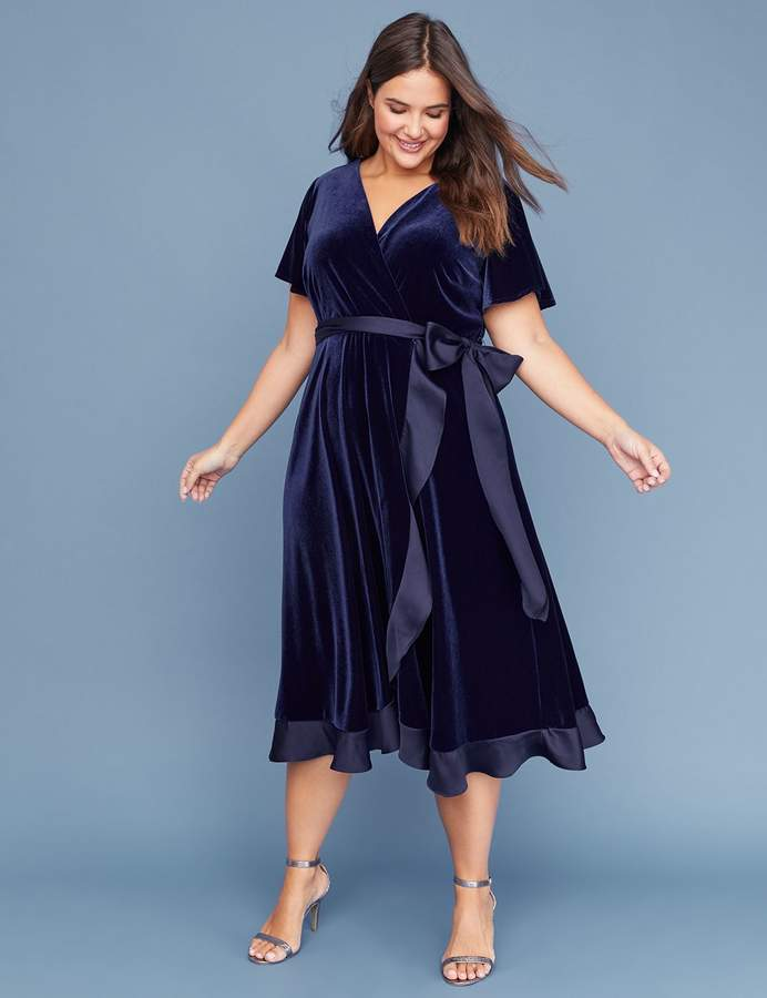 3b400705ce2e Lane Bryant Velvet Midi Fit & Flare Dress | Products in 2019 | Plus ...