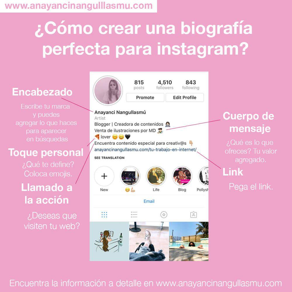 Cómo Escribir Mi Bio En Instagram Consejos Para Redes Sociales Consejos De Blog Manejo De Redes Sociales