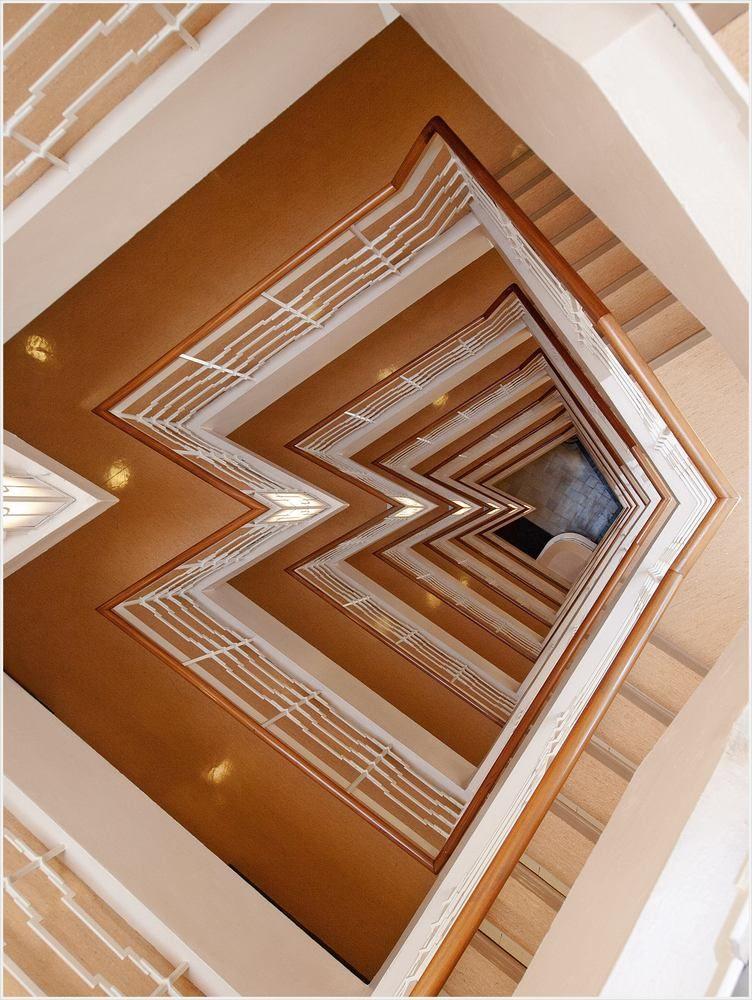 Treppenhauses eines Kontorhauses in Hamburg