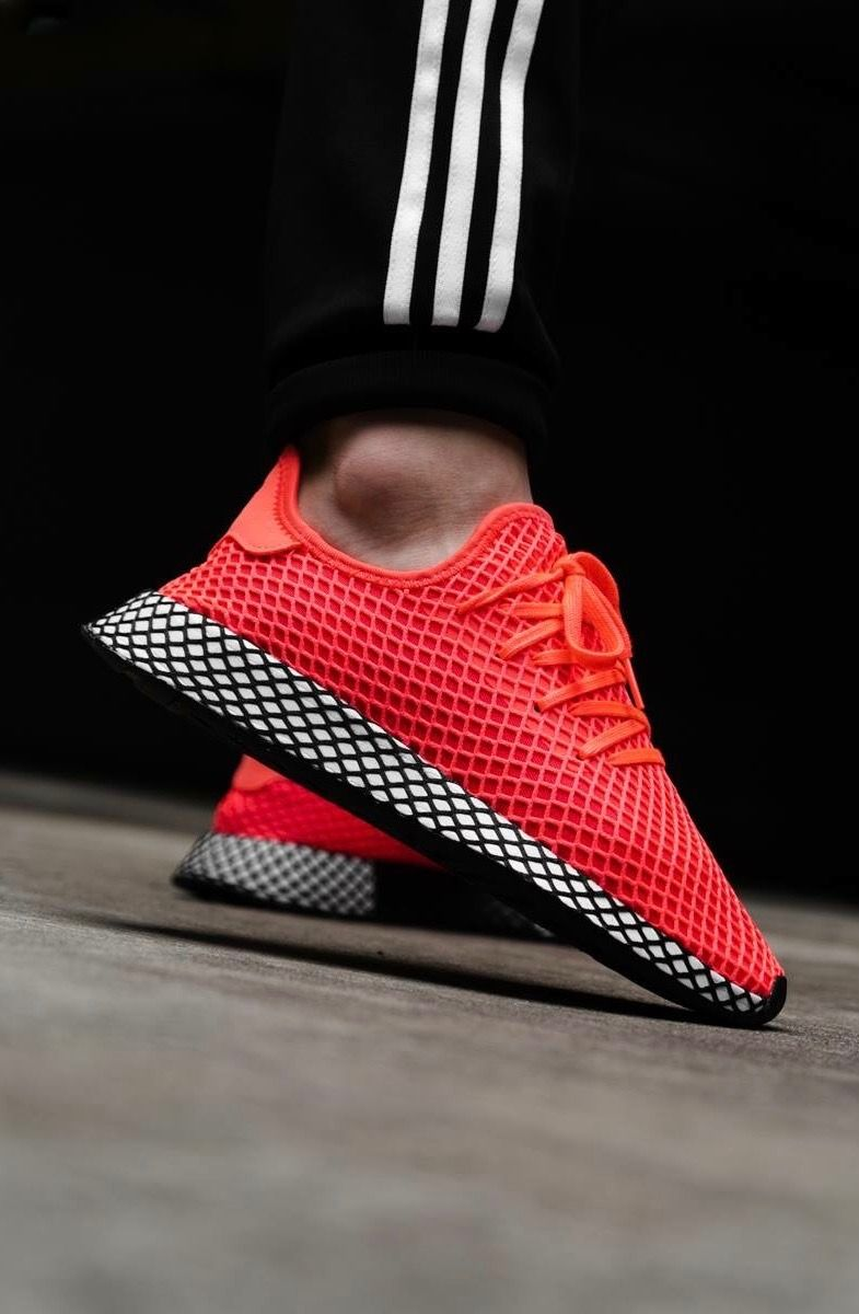 adidas Women's Red Deerupt Runner Sneakers | FootWork & Bags