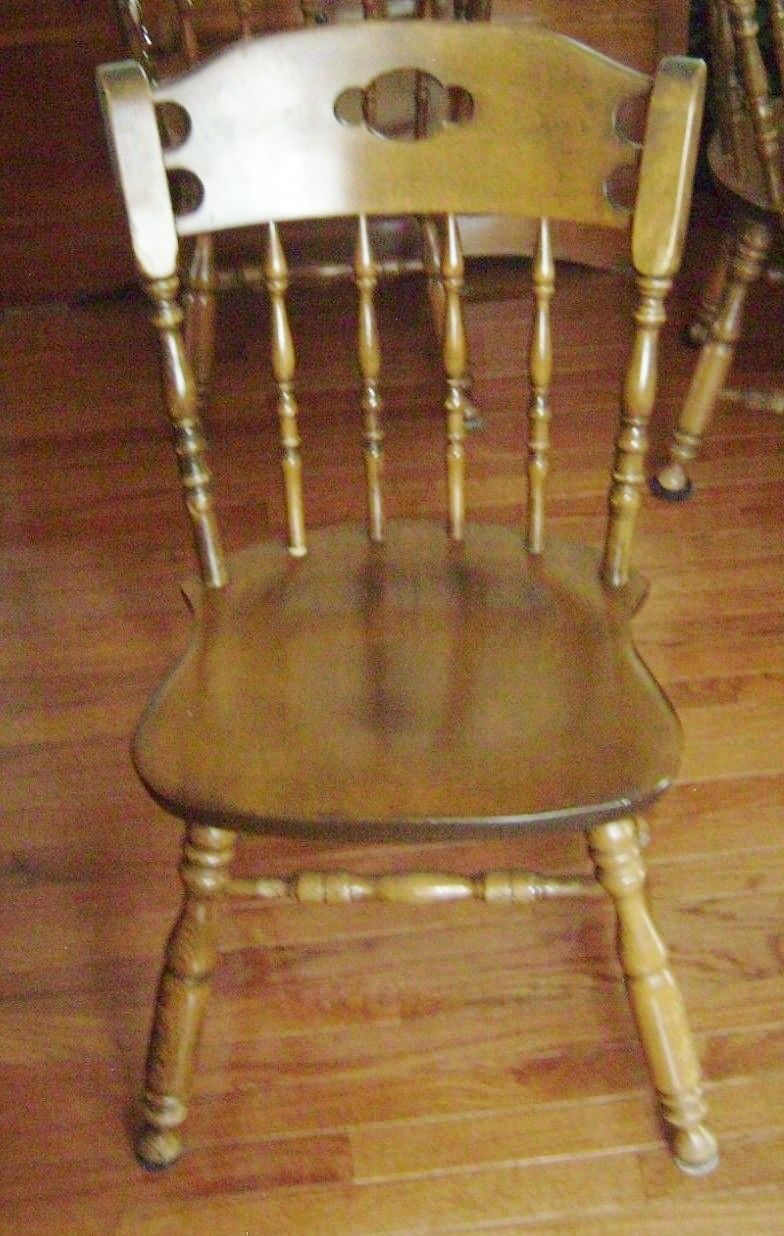 Awe Inspiring S Bent And Brothers Maple Side Chair Bought 5 In 1968 And Machost Co Dining Chair Design Ideas Machostcouk