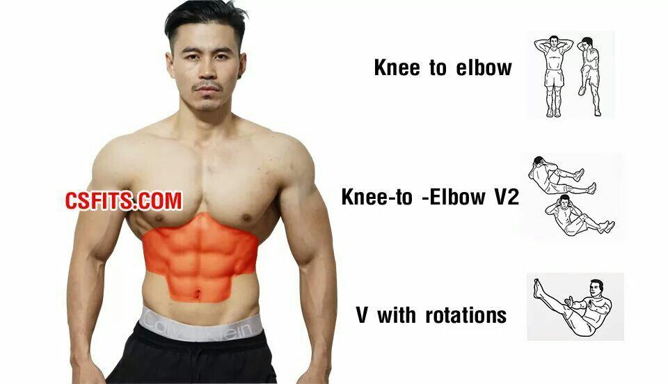 Ejercicios abdominales para hombres imagenes