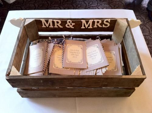 Wedding programme holder