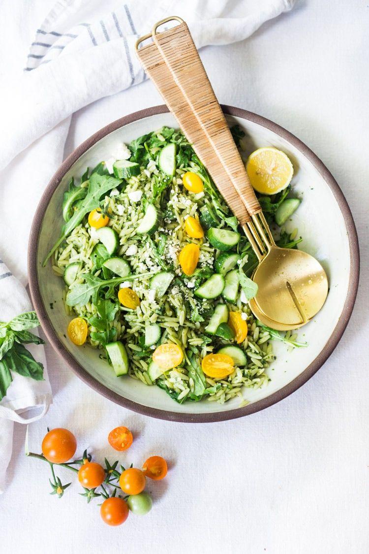Lemon Basil Orzo Salad