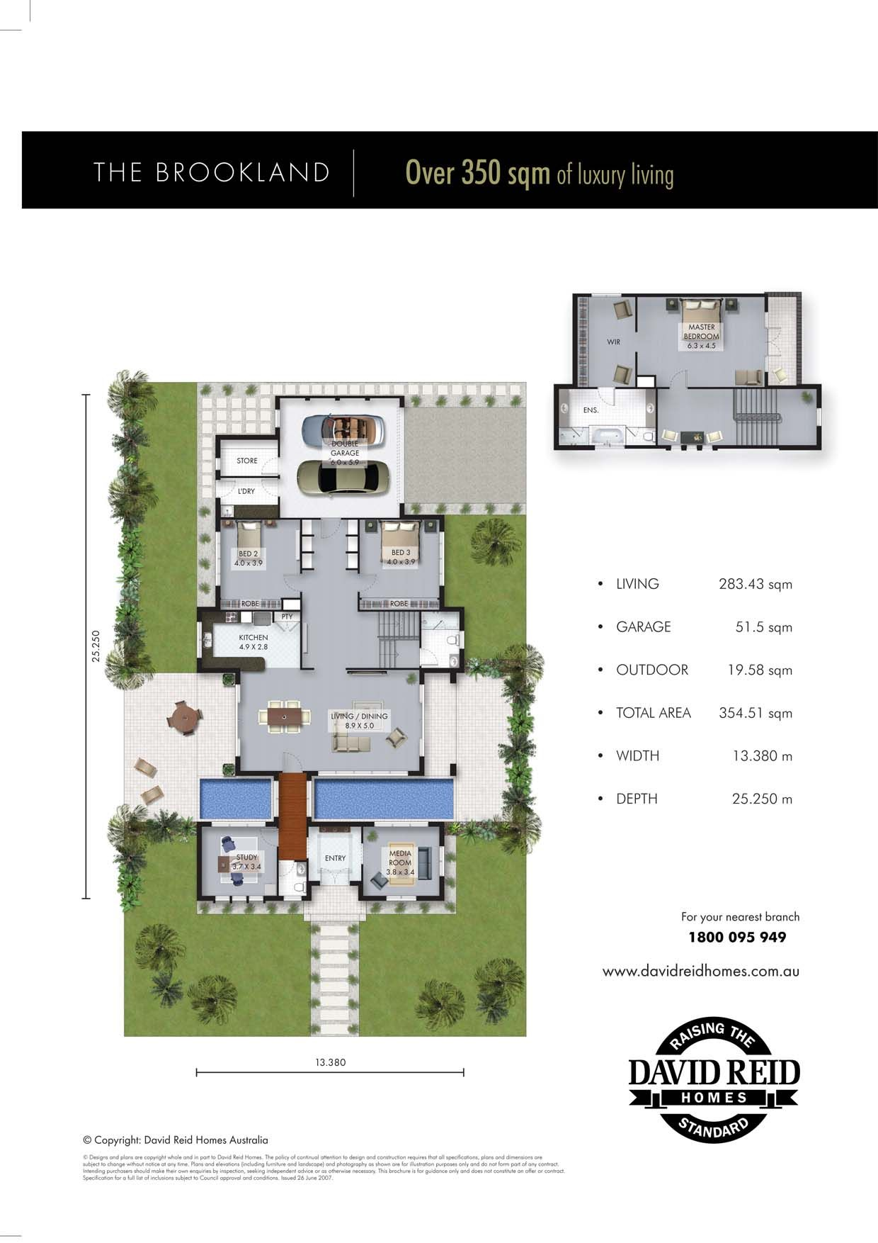 The Brookland Floor Plan   Concept Range. David Reid Homes Australia, Luxury  Custom Home Builder.