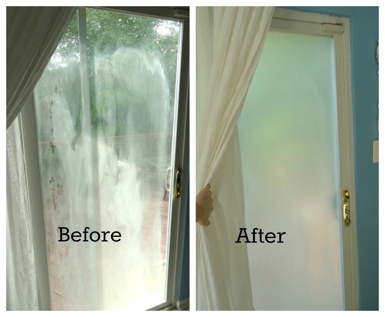 Fixing A Window With A Broken Seal With Images Glass Door