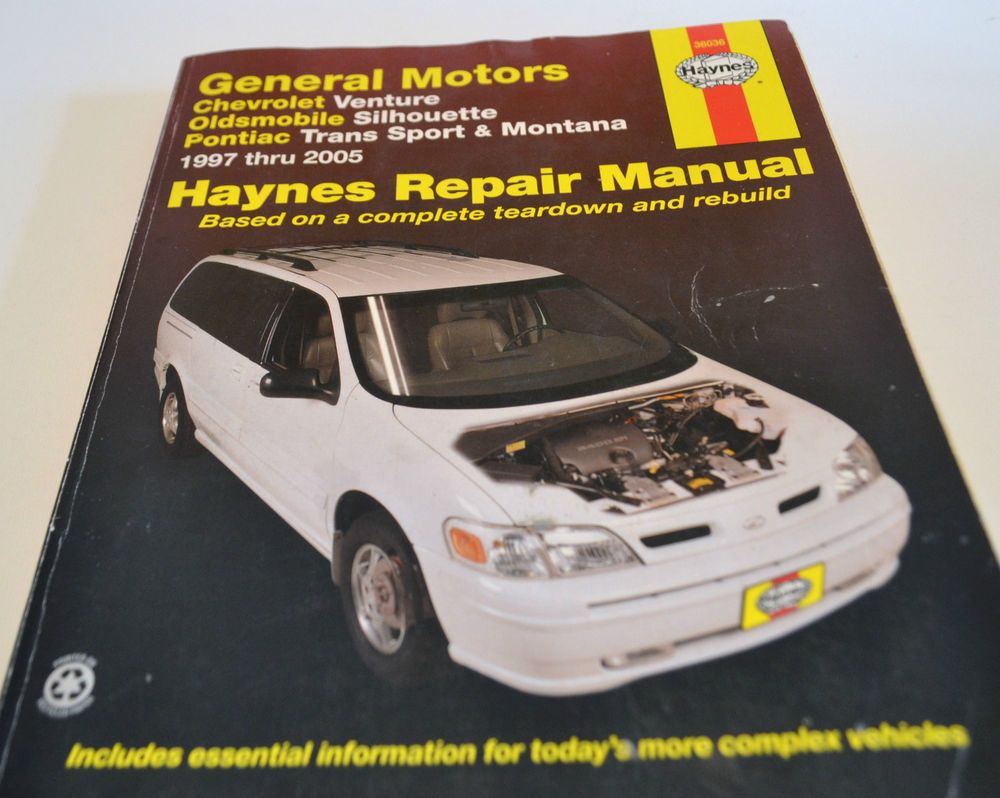 general motors haynes repair manual venture silhouette montana rh pinterest com Haynes Manual for Quads Haynes Manual Pictures Back