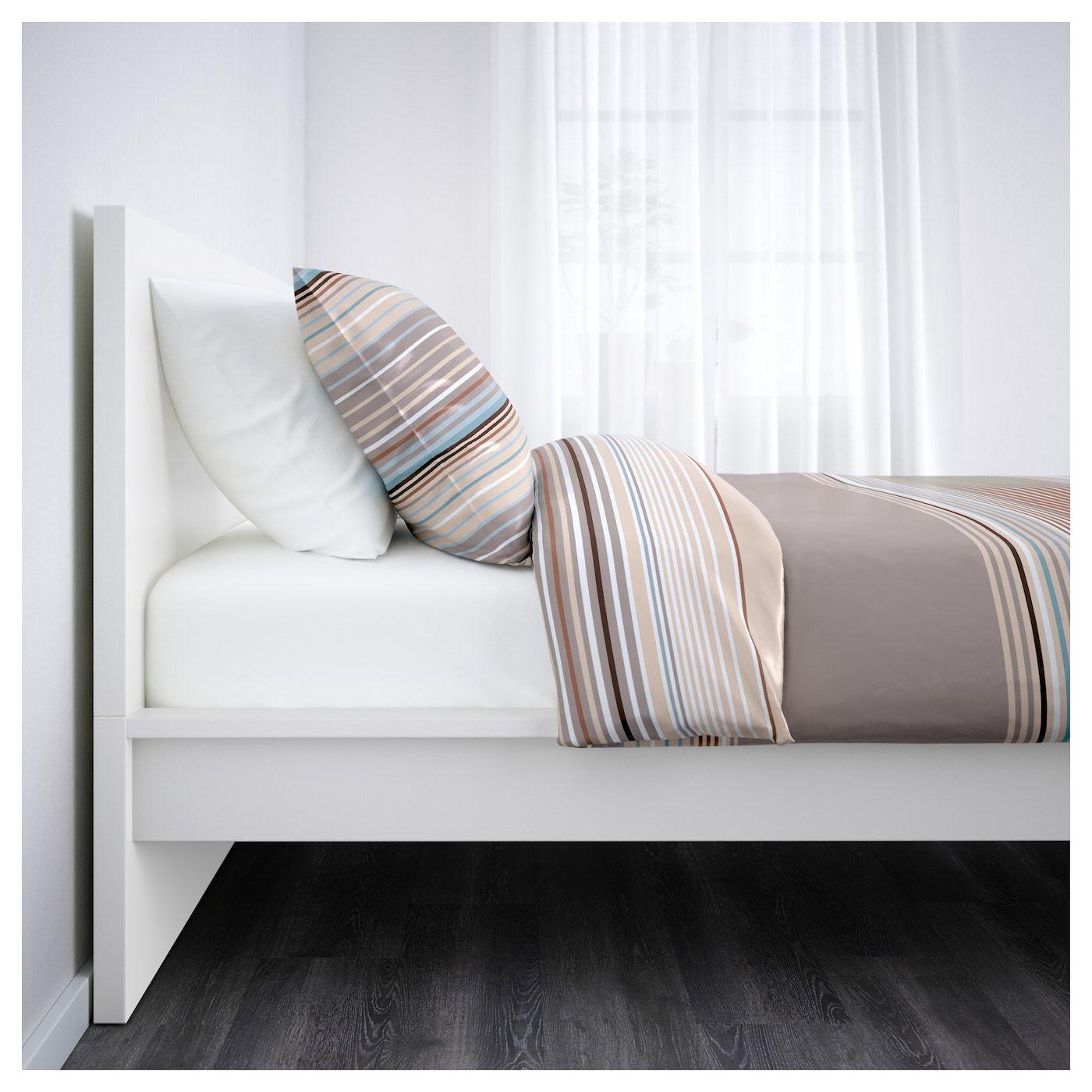 Malm Cadre De Lit Haut Blanc 90x200 Cm Ikea Cadre De Lit Structure De Lit Lit Haut