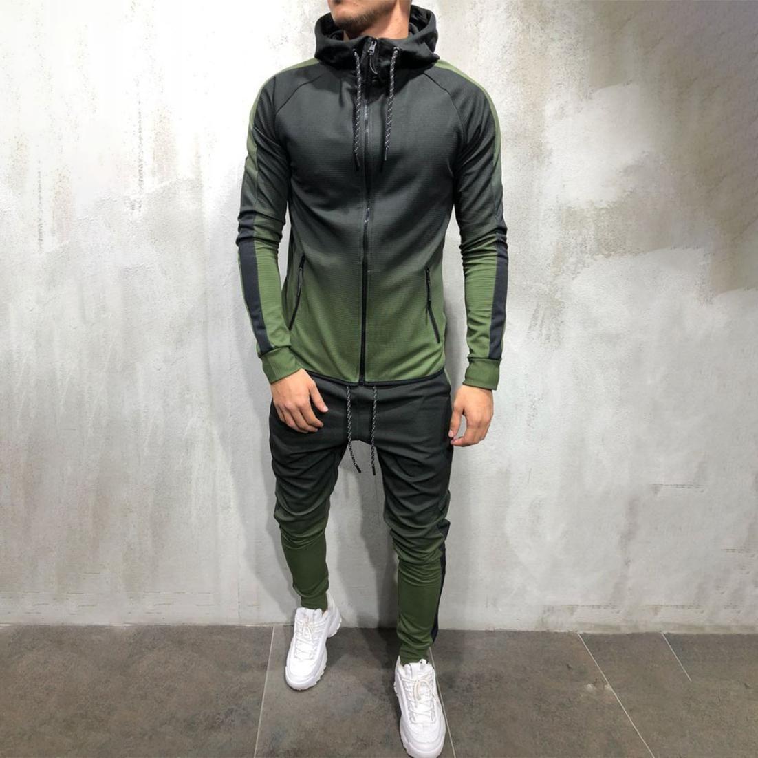 Jogging Suit Tracksuit Sports Suit Jogging Fitness Streetwear Mens