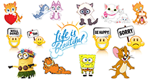 Find astonishing emoticons such as funny acronyms, quotes, celebrities, greetings, and more!