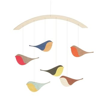 Snug Studio Songbirds Baby Mobile. Could we make this?