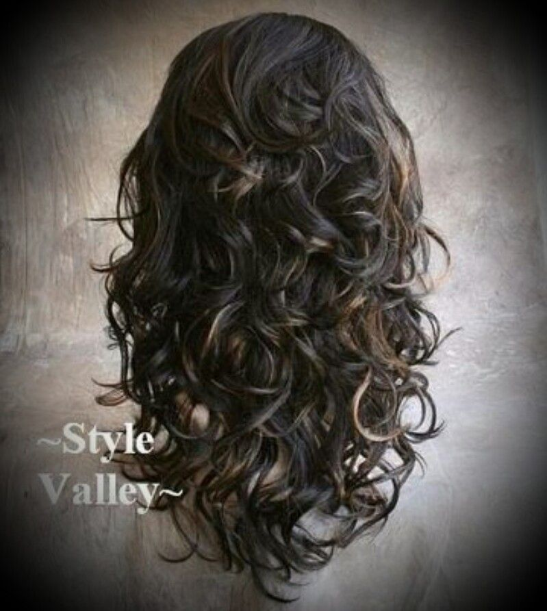 Long Curly Layers Love The Soft Curls Long Layered Hair Long Hair Styles Curly Hair Pieces