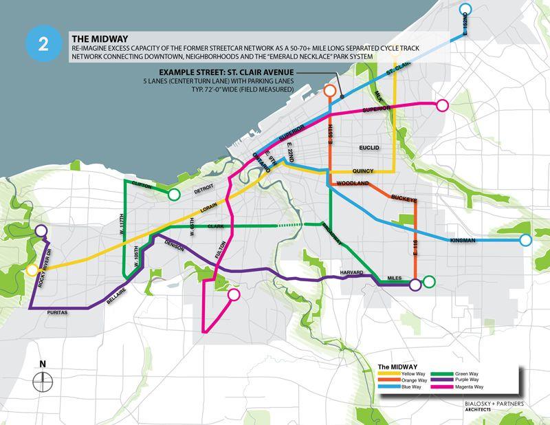 Cleveland S Creative Plan To Transform Streetcar Tracks Into Bike