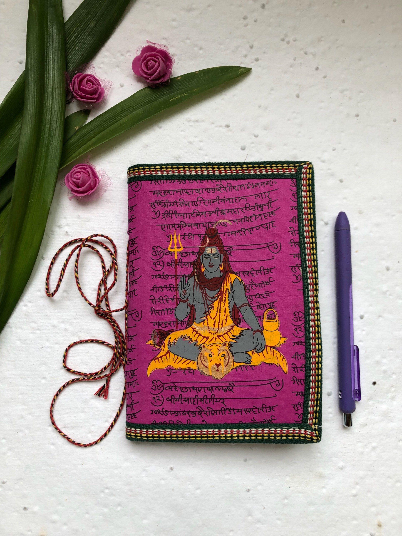 Blank junk journal indian shiva journal handmade gift