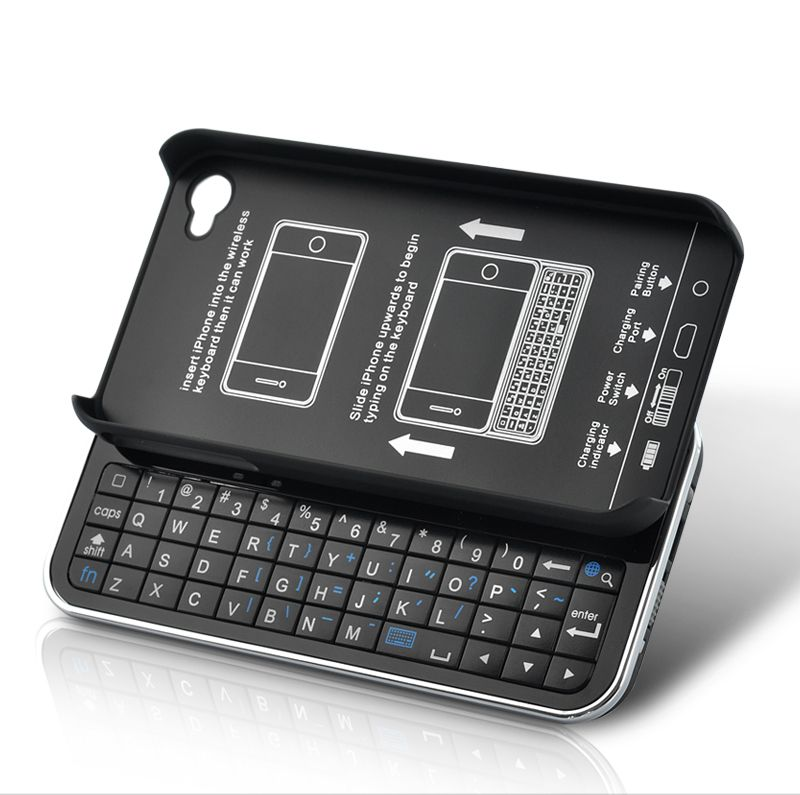 Slider QWERTY Keyboard + Case (Bluetooth 2 0, Mini USB