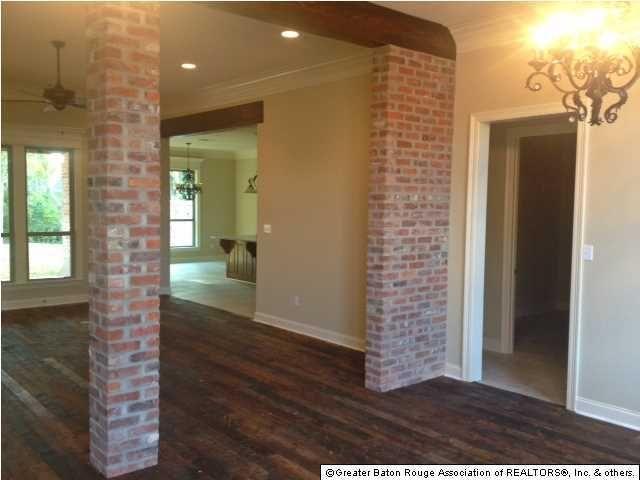 Some Of My Favorite Features Of Baton Rouge Homesu2026 Heart Pine Floorsu2026 Interior  Brick Columns Or Walls. And Wood Beams.