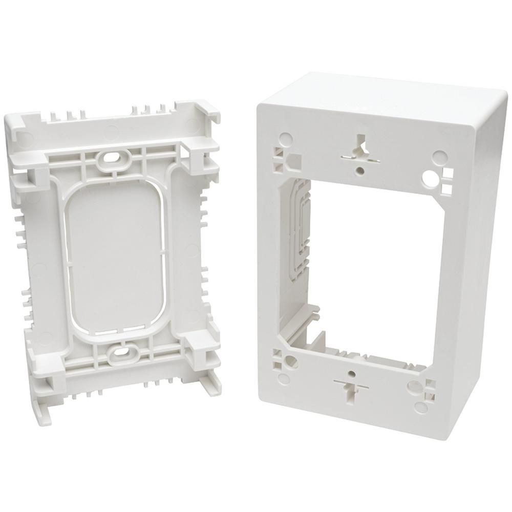 Tripp Lite Single Gang Surface Mount Junction Box Wall Plate N080 Smb1 Wh Plates On Wall Junction Boxes Wall