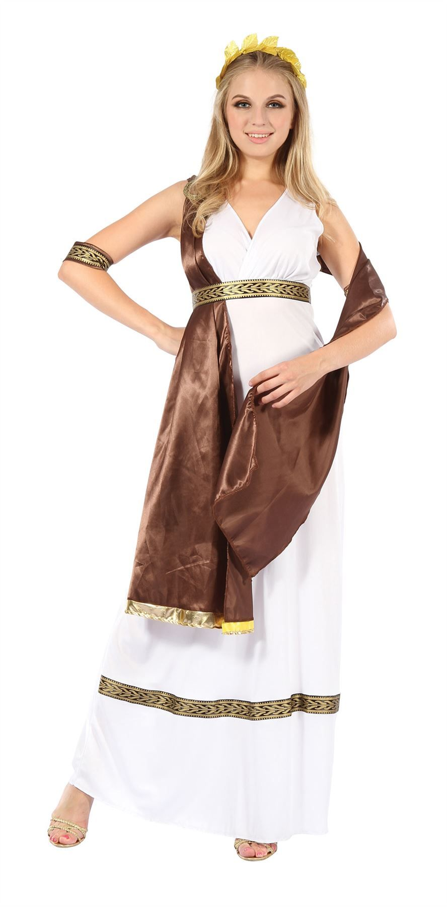 Adults Toga Costume Mens Greek Roman Fancy Dress Ladies Grecian Goddess Outfit
