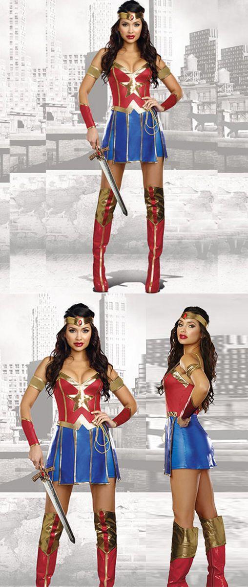 Womens Movie Wonder Woman Adult Dc Superhero Halloween Costume