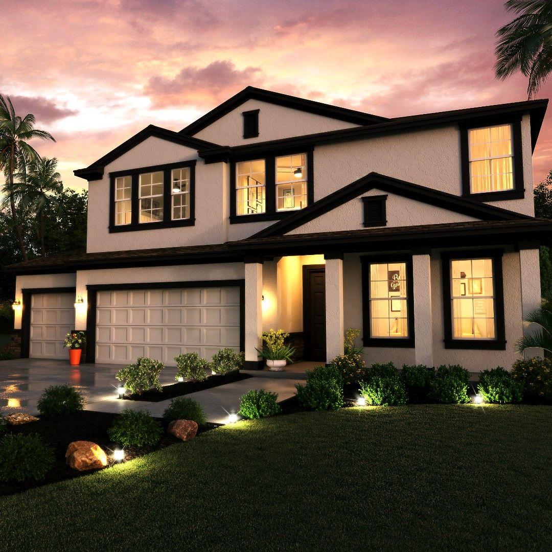 Loft Housedesign: White Exterior Houses, House Exterior, 3d
