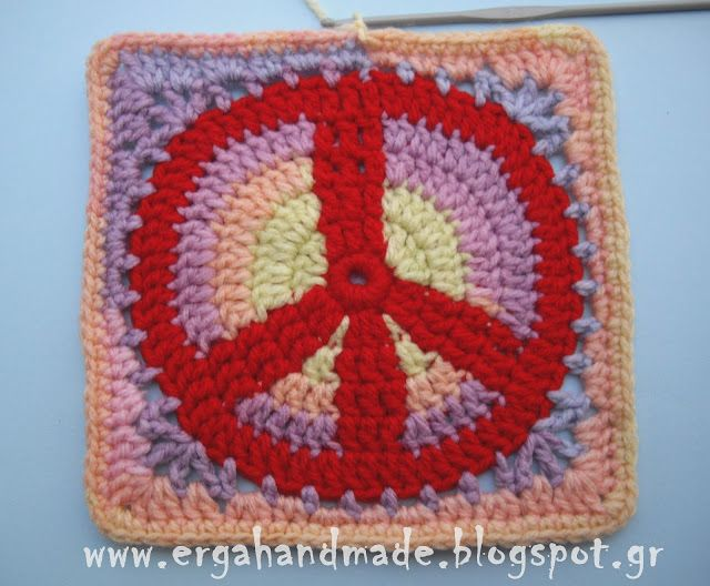 Peace Sign Pattern Part 1 Pinterest Peace Patterns And Crochet