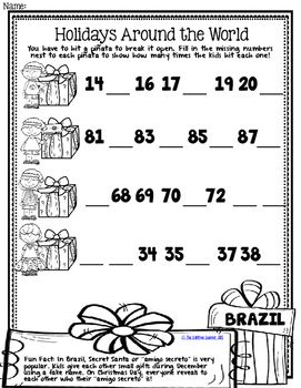 Christmas Around The World Math 1st Grade Holiday Math Worksheets Holidays Around The World Holiday Math